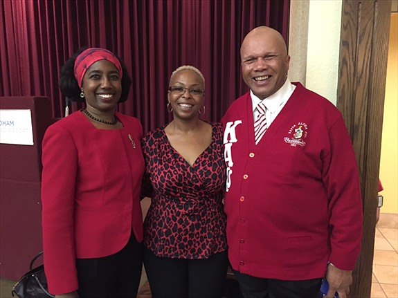 "The ladies of the El Paso Alumnae Chapter of Delta Sigma Theta Sorority, Inc. and the men of the El Paso/Las Cruces Alumni Chapter of Kappa Alpha Psi Fraternity, Inc., hosted a Police Etiquette Seminar on Saturday, October 10, 2015. This interactive forum promoted effective means of engagement between El Paso youth and law enforcement personnel. The ""do's and don'ts"" of youth interaction with law enforcement personnel and the difficult encounters experienced by those sworn to protect and serve were discussed. Pictured: El Paso Alumnae Chapter President, Christina Ford, El Paso Alumnae Chapter Corresponding Secretary, Stephanie Allen, and Kappa Alpha Psi Fraternity, Polemarch, David Jones"